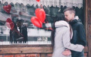 Valentine's Day date stroll
